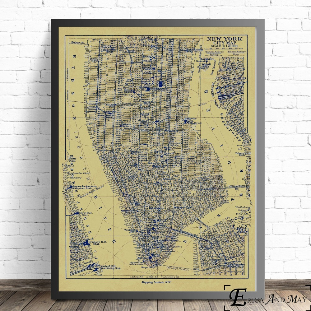 Nyc Subway Map Canvas Wall Art.Us 4 9 51 Off New York London Subway Map Vintage Wall Art Canvas Painting Poster For Home Decor Posters And Prints Unframed Decorative Picture In