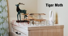 DIY Craft, faépítő készlet, épület játékok, karácsonyi ajándék jelen, 1: 18 X10 De Havilland Tiger Moth statikus modellek