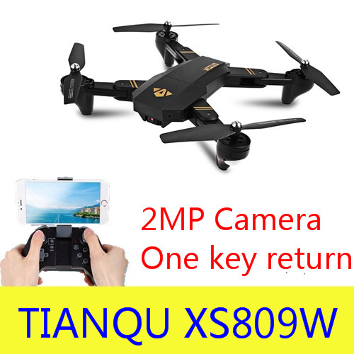 Original XS809W Dobrável Mini Drone RC Zangão Selfie com Wi-fi FPV HD Camera Altitude Hold & Modo Headless Quadcopter RC zangão