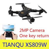 Original XS809W Mini Foldable Drone RC Selfie Drone With Wifi FPV HD Camera Altitude Hold Headless