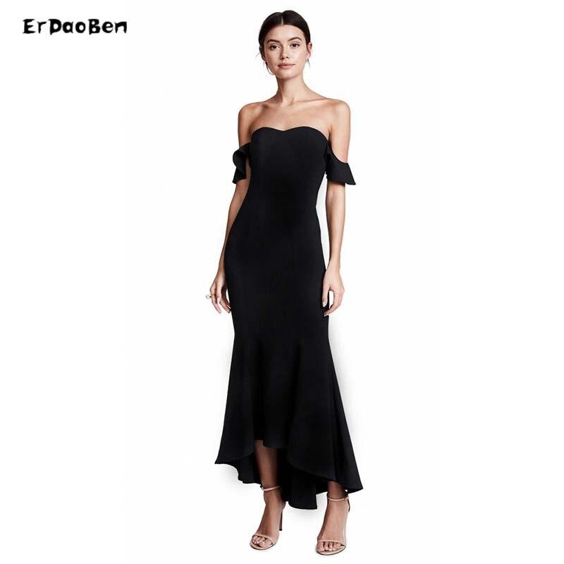 35a0b3e014c ERDAOBEN Women s Floor Red Black off shoulder Elegant Mermaid Dresses  Vestidos Spaghetti Strap Bandage Dress Sarafans H527101-in Dresses from  Women s ...