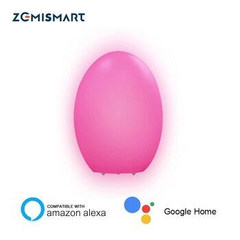 WiFi RGBCW lumière ambiante enfant enfants LED veilleuse commande vocale par Alexa Echo Google contrôle à domicile par APP minuterie contrôle