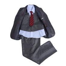 Nimble Children Solid Formal Boys Wedding Tuxedo Suits Boys Blazer Jackets + Vest +Pants 3 Pcs Boy Suits Set L1-75