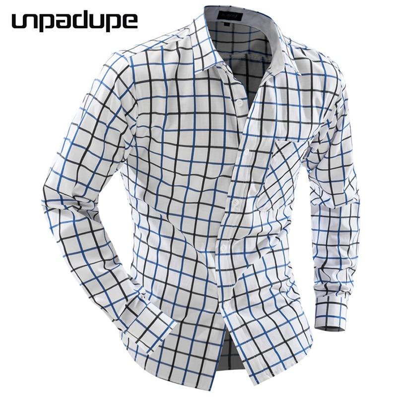 Férfi ing hosszú ujjú 2018 márka ing alkalmi férfi Slim Fit - Férfi ruházat
