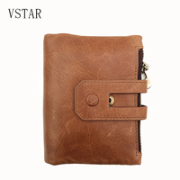 Genuine Leather Women Wallet male Small Classic Walet Portomonee Lady Mini Zipper Money Bag Vallet Coin Purse Card Holder Perse