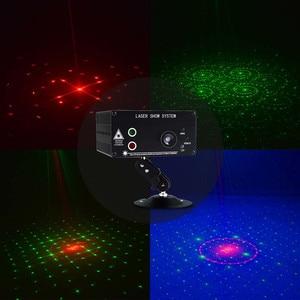 Image 5 - Atotalof LED RGB Sahne Işık 48 Desen Uzaktan/Ses DJ Disko Işık KTV Ev Partisi Noel Lazer projektör ışık