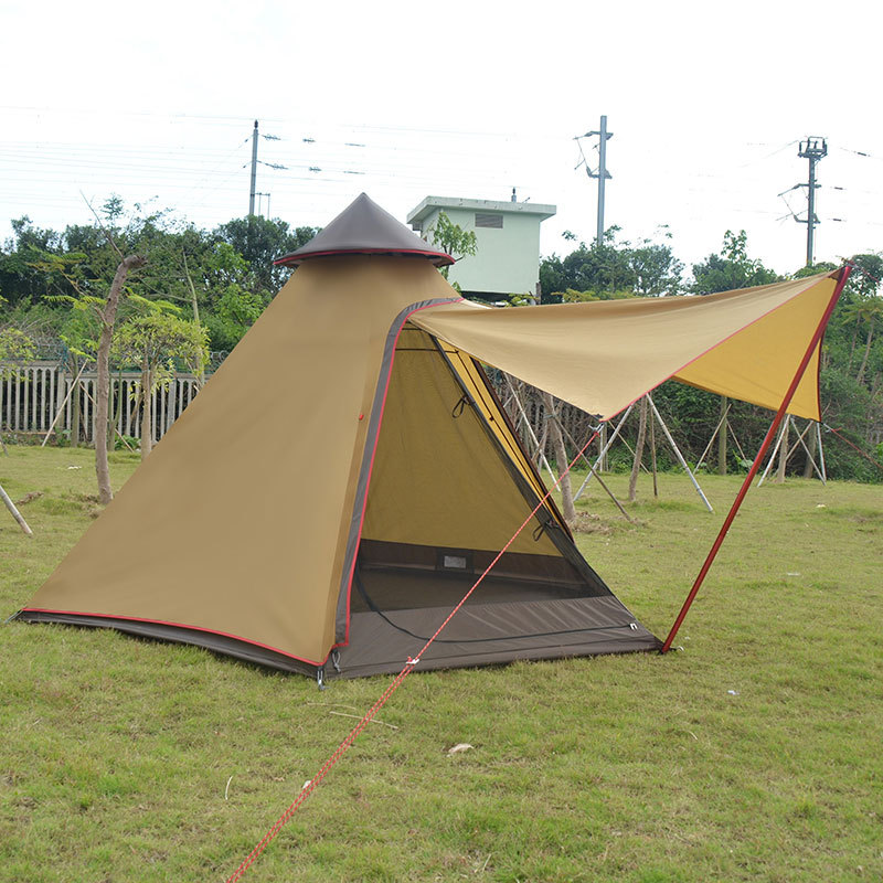Outdoor 3-4 Person Tent Double Layer Camping Tent One Bedroom 4 Season Tent For Travel Picnic Hiking outdoor double layer camping tent family tent 3 person beach garden picnic fishing hiking travel use