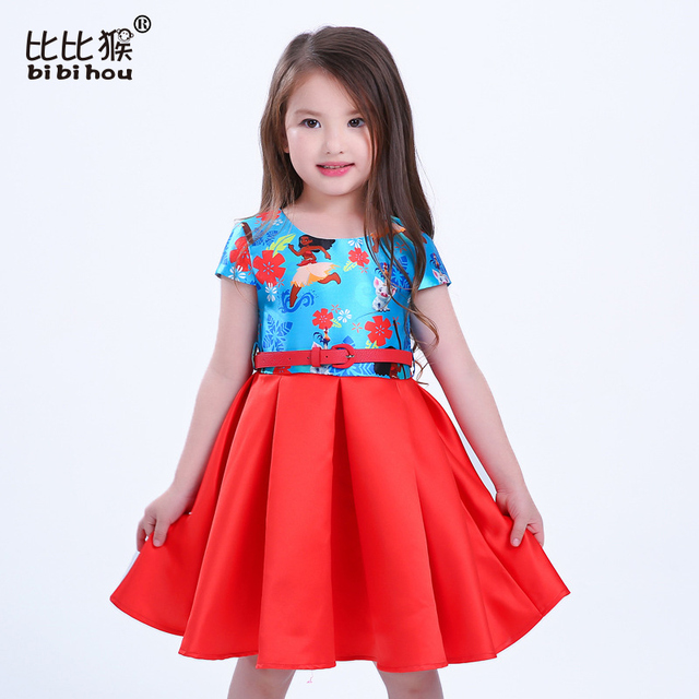 Aliexpress.com : Buy moana dress Baby party dresses wedding belt ...