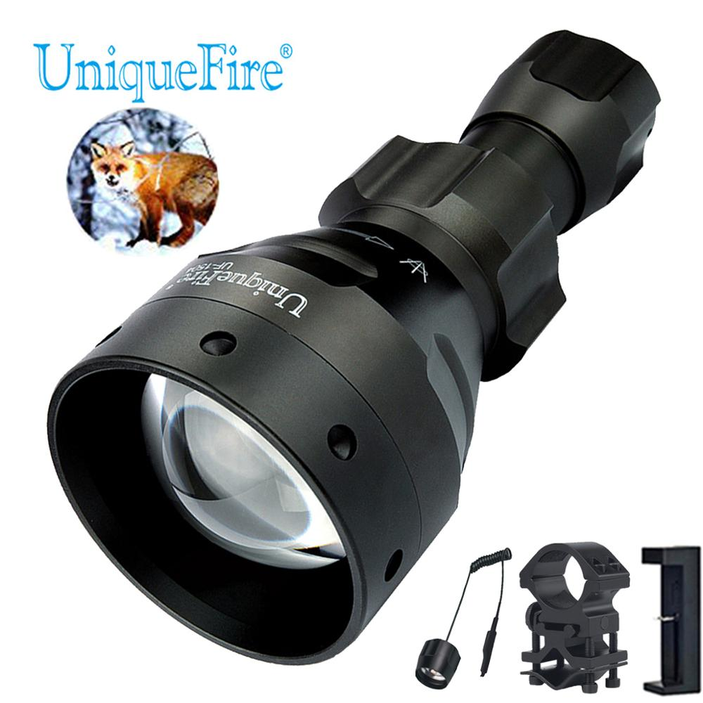 UniqueFire 1504 XPG White Light Lamp Torch 67mm Convex Lens Flashlight with USB Charger, Dual Control Remote Switch, Scope MountUniqueFire 1504 XPG White Light Lamp Torch 67mm Convex Lens Flashlight with USB Charger, Dual Control Remote Switch, Scope Mount