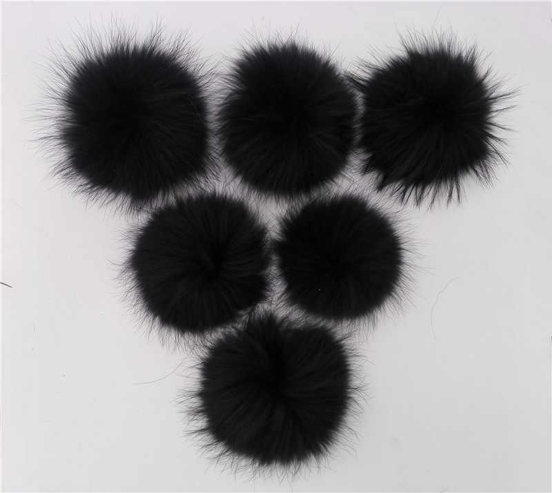 Inverno Multi Cor Tingidas 15 cm de Pele De Guaxinim Real Para Gorros De Malha tampas de Bolas De Pêlo Para Chapéus das Mulheres Chaveiro Sacos de Sapatos Acessório