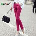 {Guoran} women formal office work pants 5 colors plus size ladies pencil pants black OL fashion black white khaki trousers