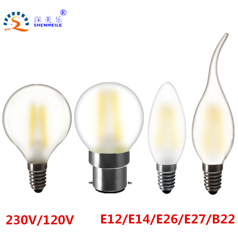 RXR More protect eyes Frosted E27 E26 E14 E12 B22 2w 4w 6w Design lamp G45 globe Edison Retro LED candle light Bulbs 110V 220V запонка arcadio rossi запонки со смолой 2 b 1026 20 e