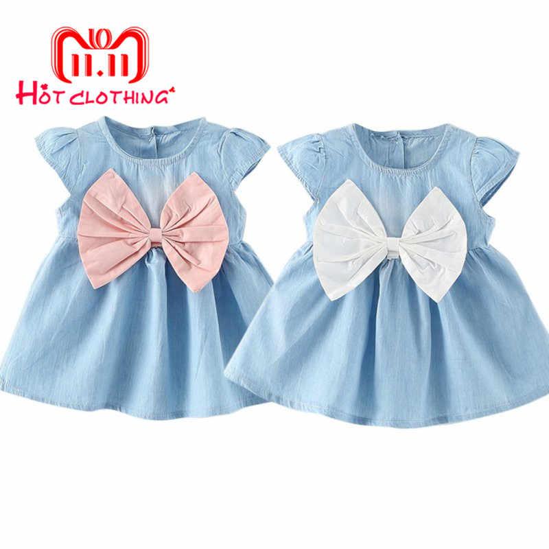 c70b2123749b3b7 Джинсовая одежда для малышей, платье для девочек, платья для новорожденных  девочек, летние джинсы