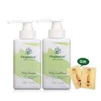 Organica Plantas 300ML Shampoo Diário + 300ML Hidratar e Alisar O Cabelo Reparação Condicionador Diariamente Após O Tratamento de Queratina