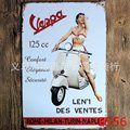 20x30cm VESPA plaque retro metal tin signs home decorative vintage Iron painting for bar ktv  wall hanging  sticker