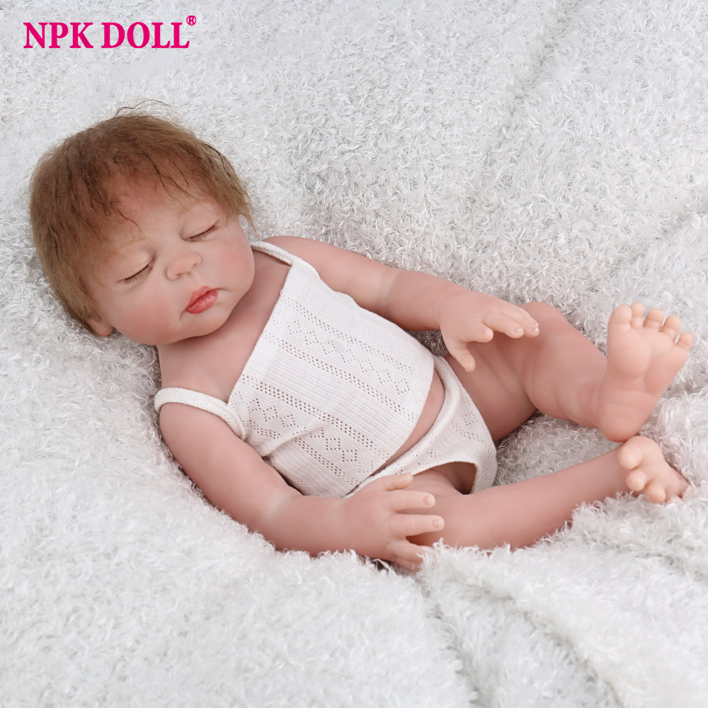 Glorious 47cm Npkdoll Reborn Baby 17 Inch Full Vinyl Lifelike Fake Infant Educational Beautiful Bath Toys Kids Playmate Cute Babe Boneca Available In Various Designs And Specifications For Your Selection Toys & Hobbies