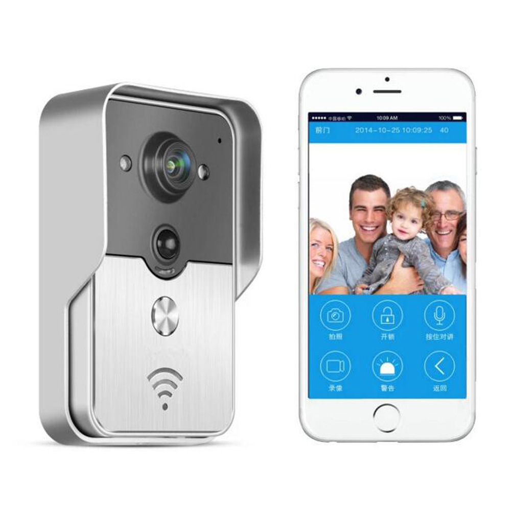 WiFi Wireless Video Door Phone Intercom Doorbell Peehole Camera PIR IR Night Vision Alarm Support IOS Android APP 2 7inch indoor monitor wifi wireless video door phone intercom doorbell ip camera pir ir night vision home alarm system remote