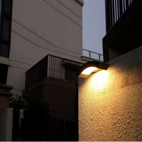 Art Deco LED outdoor wall lamp unique waterproof Garden Path Road Lawn Post Corridor Lamps Decoration industrial LED wall light