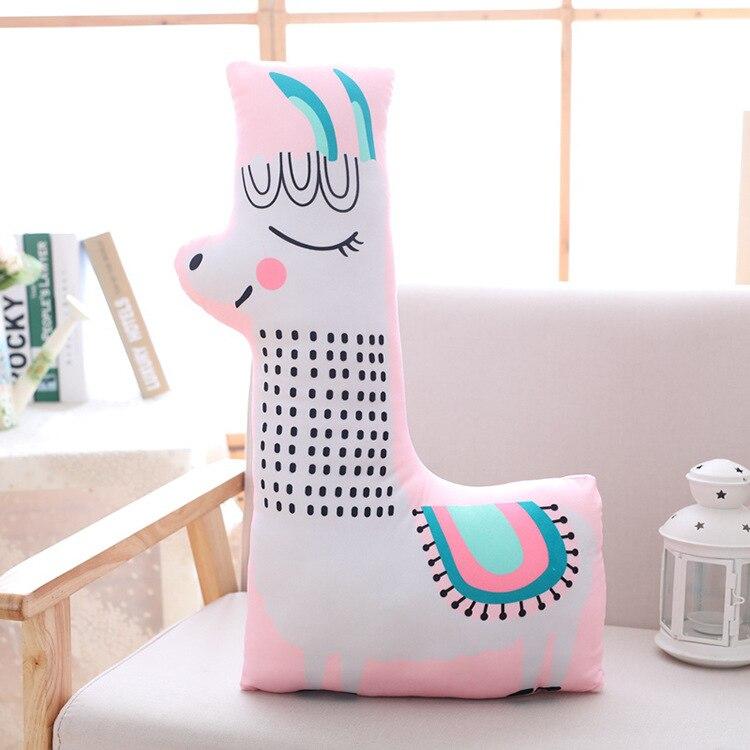 Grand 65x35 cm dessin animé alpaga mouton en peluche jeter oreiller jouet canapé coussin fermeture à glissière lavable doux oreiller cadeau d'anniversaire s2824