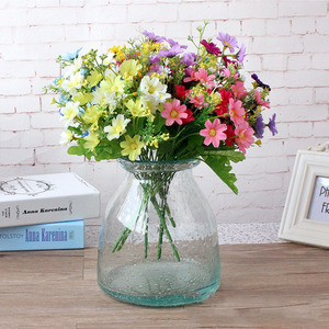 Image 4 - 1 Bunch 28 Head Cineraria Artificial Flower Bouquet Home Office Decor silk daisy artificial decorative indoor outdoor A12150