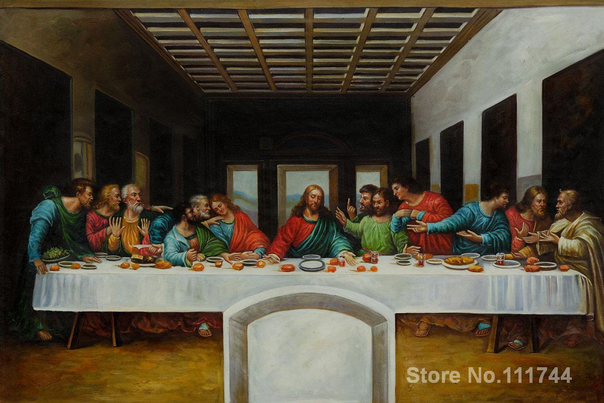 Le Dernier Souper par Leonardo Da Vinci plus célèbre peintures à l'huile peinte à la main reproduction