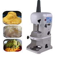 Shaved ice and snow cone machine for party and home use 250w stainless steel