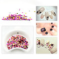 Nail Glitters Acrylic Sparkly Sequin Glitter Nail Art Tips Design Tool Decoration Mix Round Design Manicure Supplies
