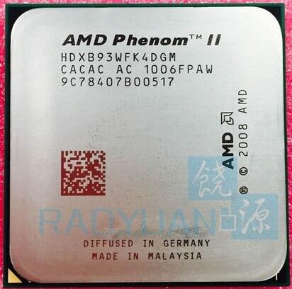 AMD Phenom II X4 B93 2.8 GHz Quad-Core CPU Processor HDXB93WFK4DGM Socket AM3