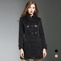 England style argyle padded coat Women 2018 winter parkas overcoats women greatcoat D626