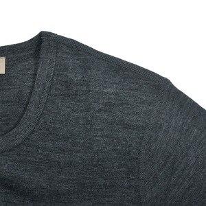 Image 3 - Masculino 100% puro lã merino inverno camada base térmica quente camisola roupa interior respirável meados de peso calças conjunto inferior