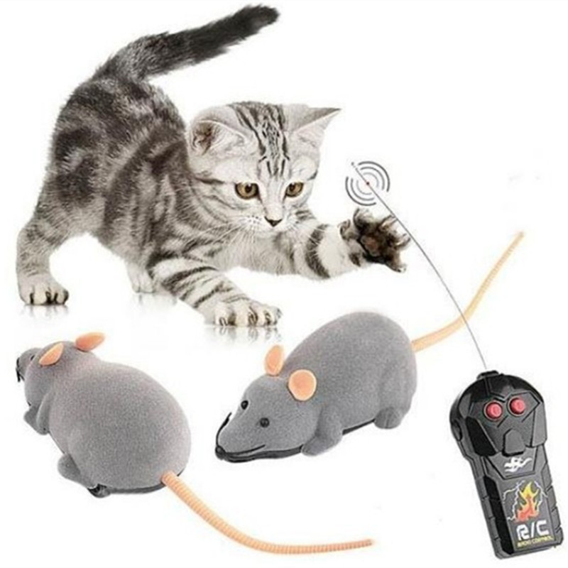 Tricky toy Scary Remote Control Simulation Plush Mouse Mice Kids joke Toys Gift for Cat Dog kids Spoof toys