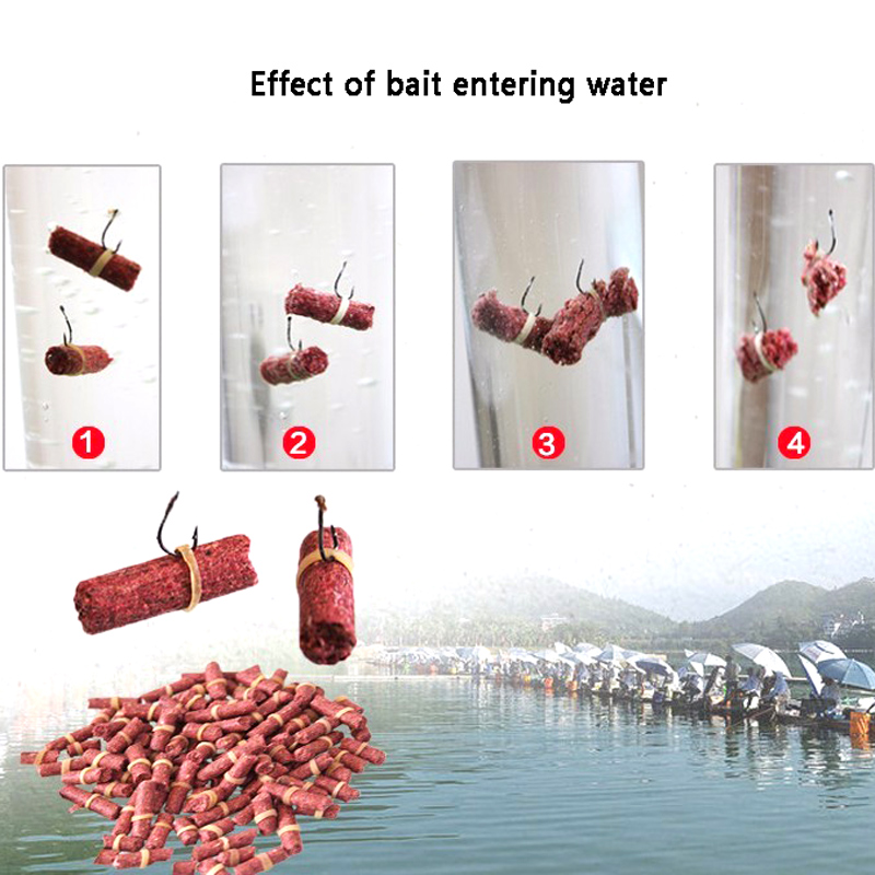 Hot Sale 50pcs/bag Red Carp Fishing Bait Smell Grass Carp Baits Fishing Lure Baits  insect particle rods suit particle Genera