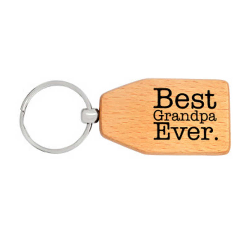 LNRRABC Wooden Men Key Chains Best papa / Dad / Grandpa Ever Car Key Chain Key Ring Key Holder Father's Gift