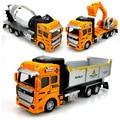 Wholesale Alloy car models toy 3pcs engineering car Transport dumper truck mixers excavator WARRIOR cars toy children boy gift