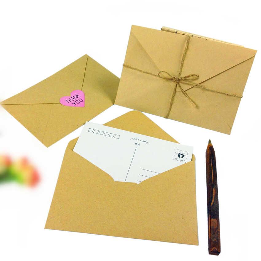 100 шт./лот, новинка, винтажный, DIY, многофункциональный, крафт-бумага, конверт, 16*11 см, подарочная карта, конверты для свадьбы, дня рождения, вечеринки