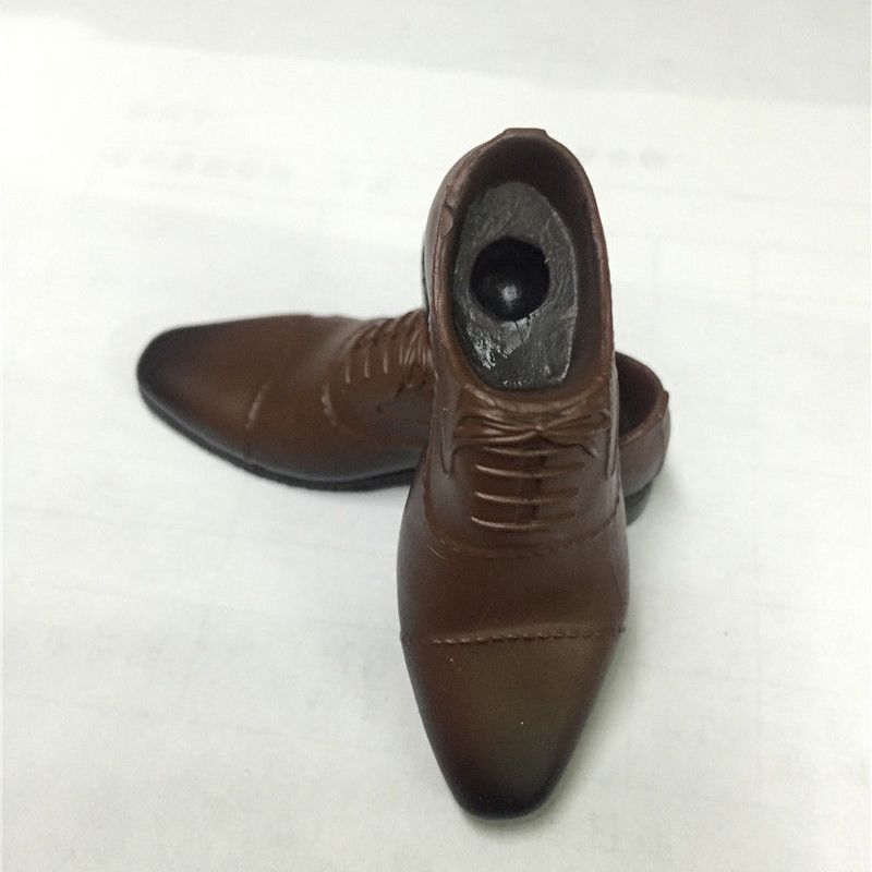 """VERYCOOL Men's Fashion Shoes Brown Color 1//6 Fit for 12/"""" action figure"""