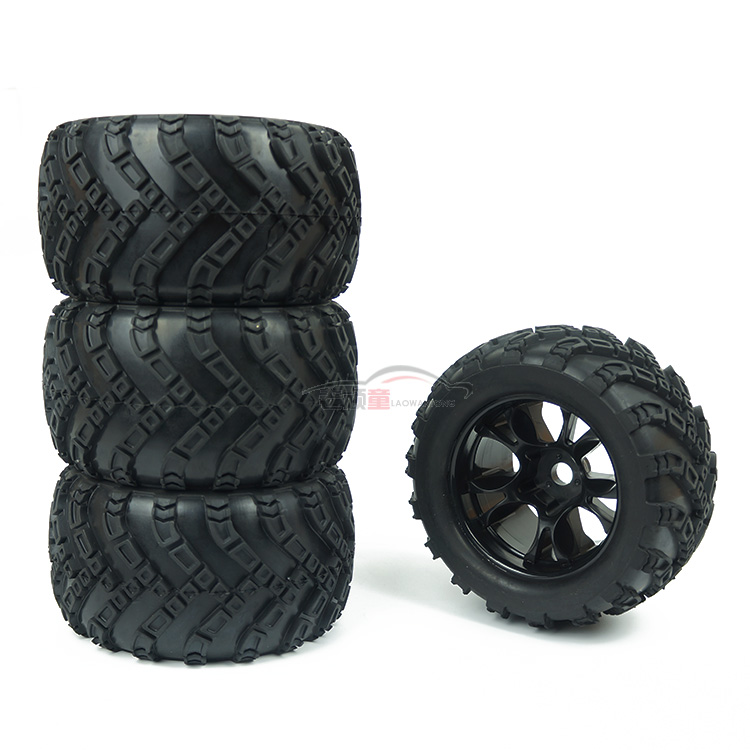2PCS/ 4PCS DHK East Hongkai accessories 8384-001 8384 8382 tyres Bigfoot racing tyres viscose high quality tires for RC Car конфетница rosenberg 8384 w