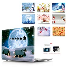 color printing Christmas notebook case for Macbook Air 11 13 Pro Retina 12 15 inch Colors Touch Bar New 13New