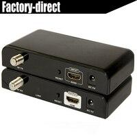 Лкв 379 HDMI удлинитель сплиттер 99 Каналы через коаксиальный кабель до 500 м Полный HD1080P HDMI Extender отправителя и приемник включают
