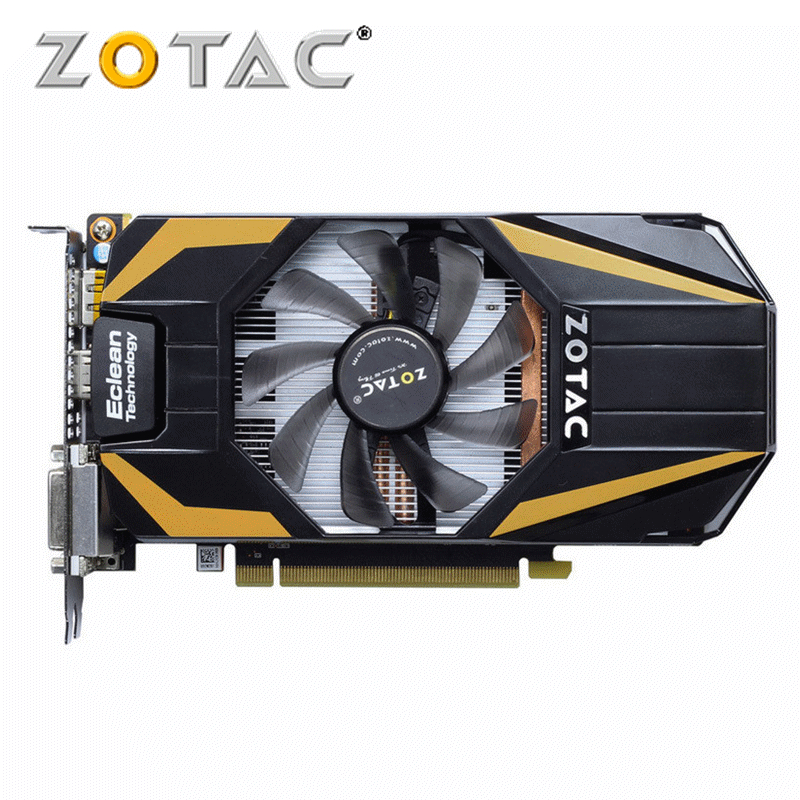 Original ZOTAC GeForce GTX 650Ti Boost <font><b>1GB</b></font> <font><b>GPU</b></font> 192Bit GDDR5 Video Card Graphics Cards VGA For NVIDIA GTX650 Ti 1GD5 Hdmi Dvi image