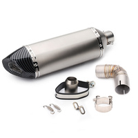 Motorcycle muffler exhaust pipe escape moto akrapovic db killer exhaust middle link pipe for Honda cb1000r 2010 15 year silp on