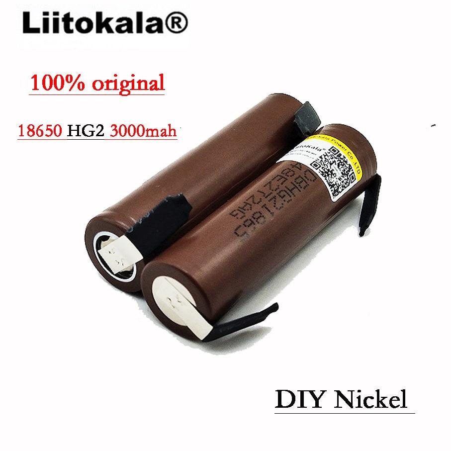 Image 2 - 2019 8PCS/Lot Liitokala  HG2 18650 3000mAh battery 18650 HG2 3.6V discharge 30A, dedicated DBHG2 batteries + DIY Nickelliitokala 18650liitokala batterylg hg2 - AliExpress