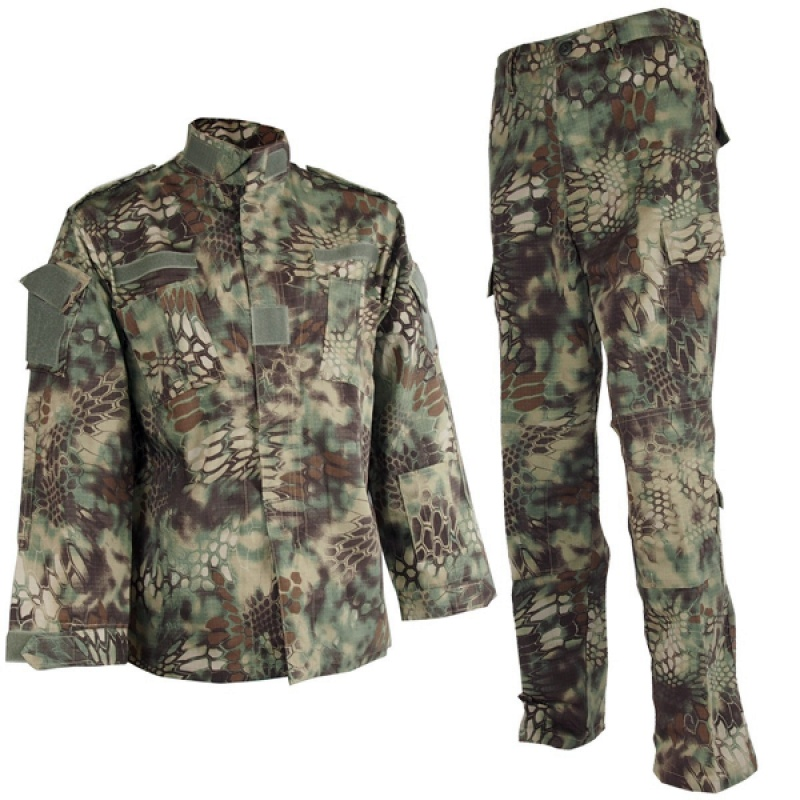 CQC Airsoft Tactical Camouflage Army Military BDU Uniform Combat Shirt & Pants Set Outdoor Paintball Hunting Clothing MAD