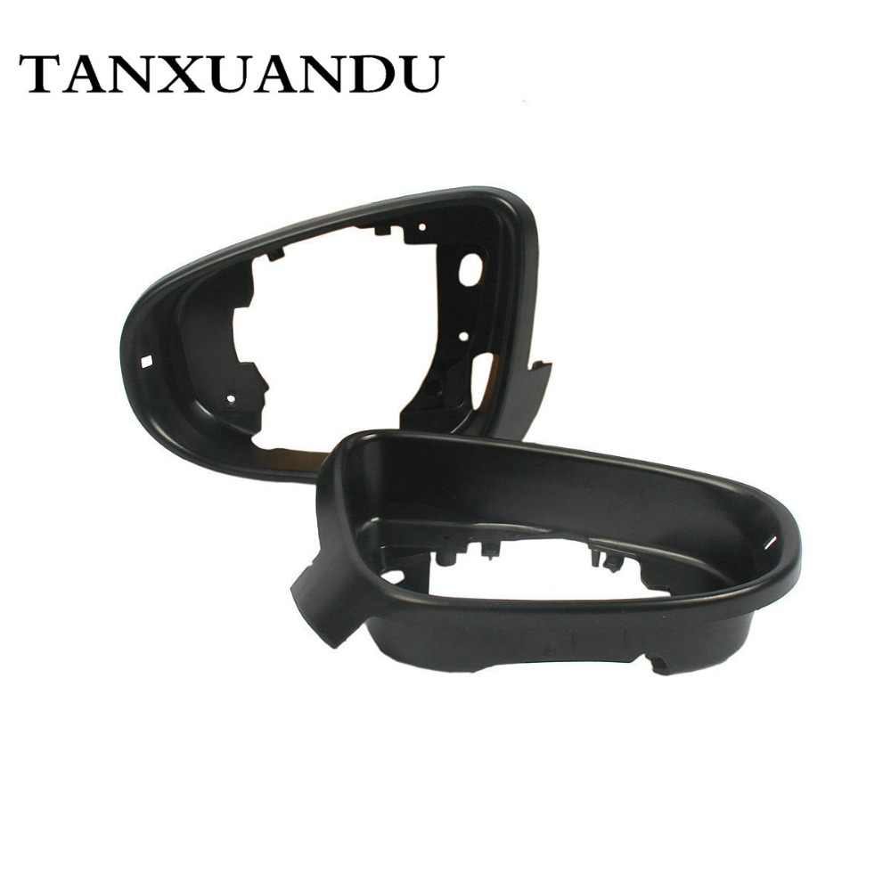Door Rear View Mirror Glass Holder Trim Wing Mirror Trim Frame Fit For VW Gti Golf MK6 09-13 Touran 09-15 6R0857601A 6R0857602A
