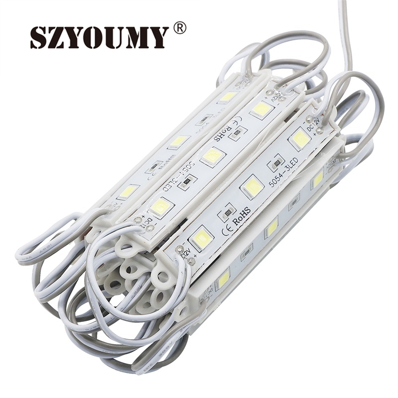 SZYOUMY 3000 Pcs Backlight Led Module Lights Waterproof SMD 5050 Led Modules for Letter Channel DC 12V 3 Leds W/WW/R/G/B/Y/RGB