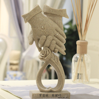 Creative lovers hand model gift wedding anniversary wedding decor decoration creative utility decor