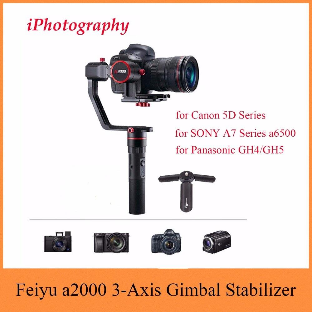 Feiyu Tech Feiyu a2000 3-Axis Gimbal Stabilizer for Canon 5D Series, for SONY A7 Series a6500, for Panasonic GH4/GH5,Dual Handle free shipping feiyu tech g4 gs gimbal 3 axis brushless gimbal for sony hdr az1vr fdr x1000v as series sport auction camera