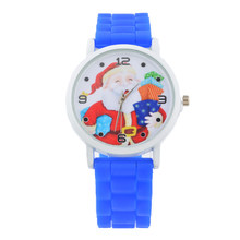 Ladies Rubber Watch Sport Clock Quartz 2019 Christmas Elderly Watches Women Silicone Strap Christmas Gift Wristwatch(China)