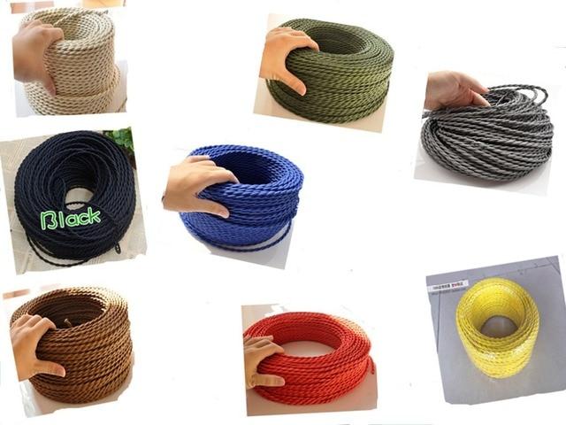 Kronleuchter Textilkabel ~ 2*0 75 100 mt los edison textilkabel stoff draht kronleuchter