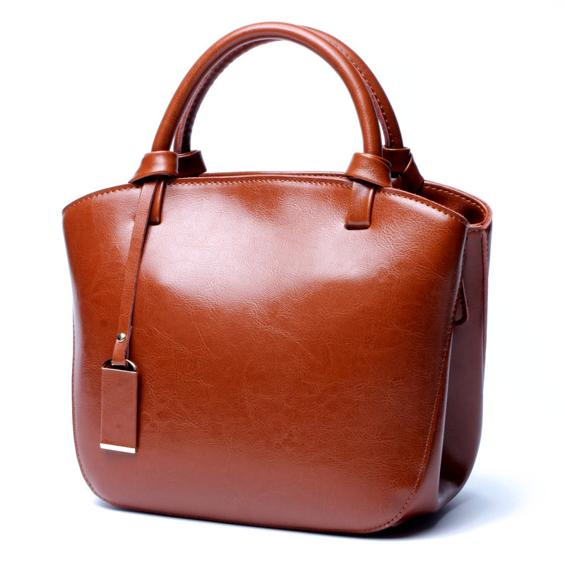 2017 genuine leather women handbag oil wax cow leather women shoulder bag classic vintage ladies small size tote bag 247 classic leather